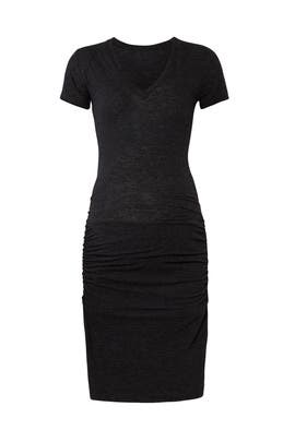 Black Short Sleeve Maternity Dress by MONROW