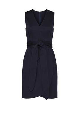 Navy Tie Waist Dress by Marissa Webb Collective