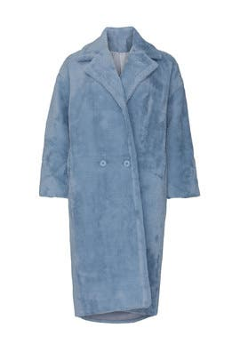 Blue Estelle Faux Fur Coat by NOIZE