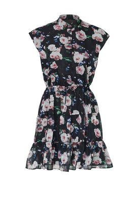 Black Floral Ollie Dress by Rebecca Minkoff