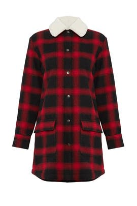 Plaid Shirt Jacket by BB Dakota