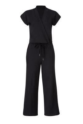 Black Sweatshirt Jumpsuit by KINLY