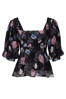 Floral Square Neck Top by Nicholas