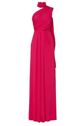 Magenta Honey Gown by SALONI