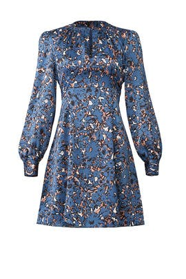 Blue Abstract Floral Dress by Slate & Willow