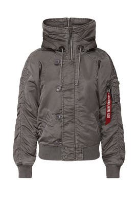 Silver N-2B Battlewash Parka  by Alpha Industries
