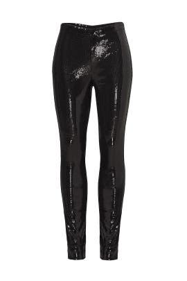 Black Sequin Leggings by BB Dakota