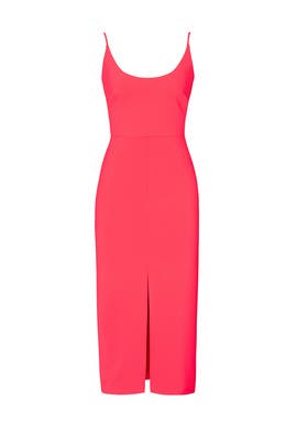Coral Slip Dress by Christian Siriano