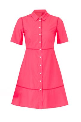 Poplin Lattice Shirtdress by Draper James