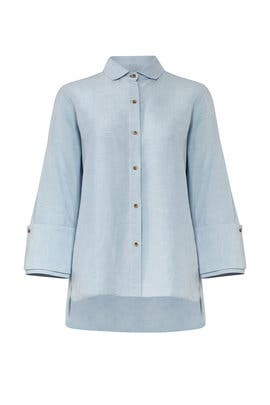 Chambray Oversize Shirt by HALSTON
