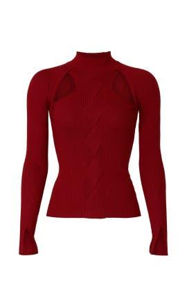 Keegan Twisted Cutout Sweater by Jonathan Simkhai