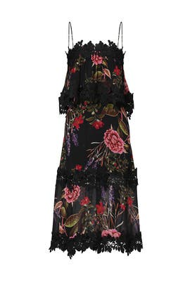 Black Peony Popover Dress by Nicholas