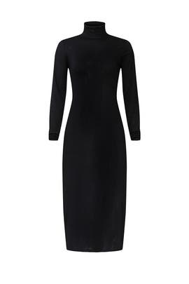 Black Turtleneck Sweater Dress by Polo Ralph Lauren
