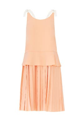 Peach Covilha Dress by Paper Crown
