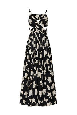 Black Printed Sleeveless Maxi by Proenza Schouler