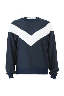Hannah Chevron Silk Top by rag & bone