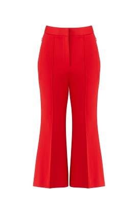 Red Jane Pants by Tibi