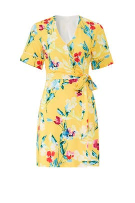 Floral V-Neck Wrap Dress by Alexia Admor