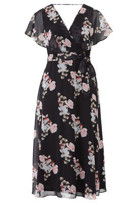 Black Floral Printed Maxi by City Chic