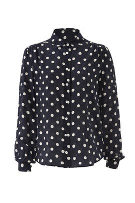 Eryn Polka Dot Top by L.K. Bennett