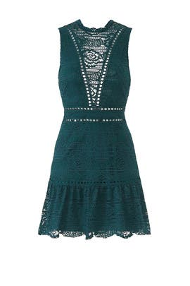Emerald Rosemary Lace Dress by Saylor