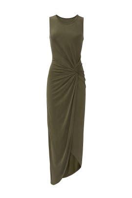 Olive Side Twist Dress by Slate & Willow