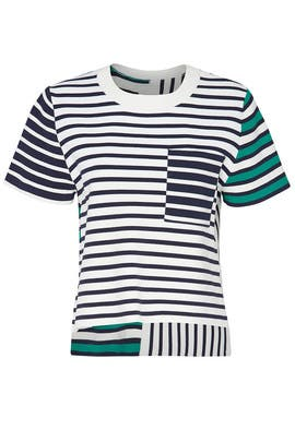 Breton Stripe Knit Top by Tory Sport