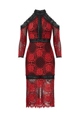 Red Lace Marlow Dress by Alexis