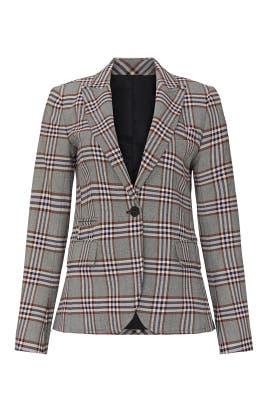 Buttoned Plaid Blazer by Derek Lam 10 Crosby