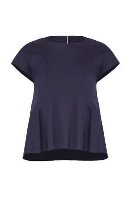 Navy Peplum Top by Jil Sander Navy