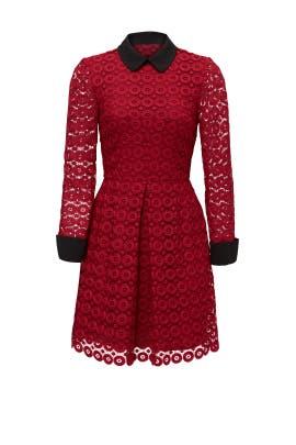 Red Circular Lace Dress by Jill Jill Stuart