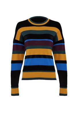 Chenille Stripe Pullover by Jason Wu