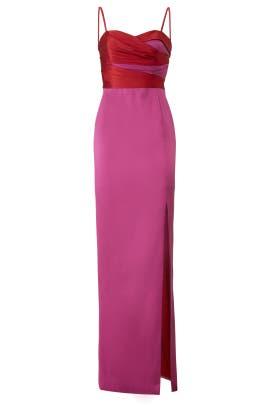 df406161f2 Marchesa Notte Two Tone Mikado Gown