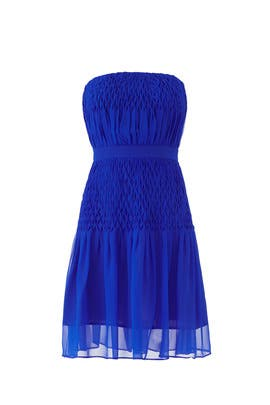 Cobalt Strapless Dress by Aijek