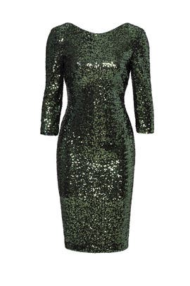 Emerald Sequin Sheath by Badgley Mischka