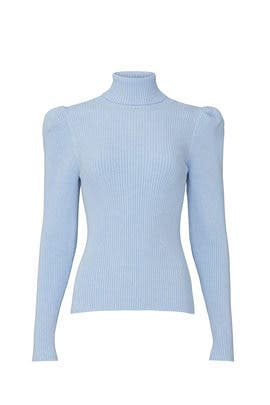 Blue Puff Sleeve Pullover by 525 America