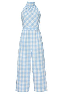 High Neck Gingham Jumpsuit by J.Crew