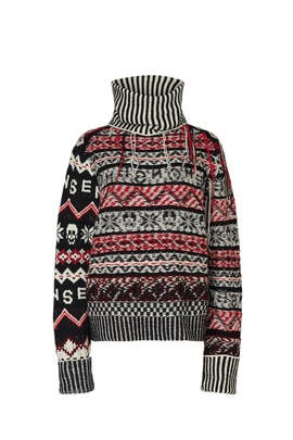 Red Fairisle Sweater by MONSE