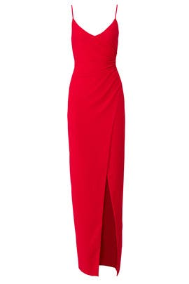 Red Bowery Gown by Black Halo
