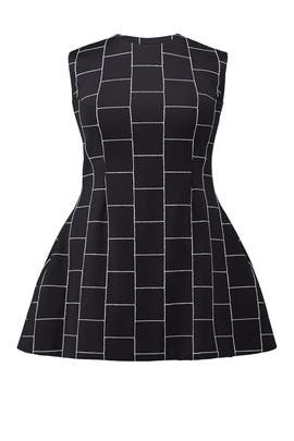 Black Checked Dress by Christian Siriano