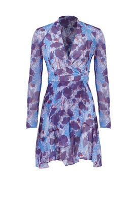 Mixed Abstract Floral Ruffle Dress by Carven