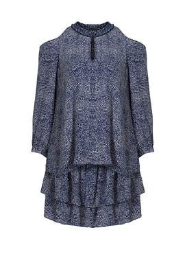 Blue Mosaic Printed Dress by Derek Lam 10 Crosby