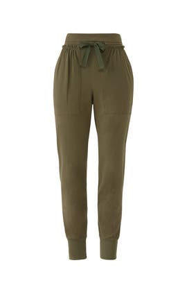 Green High Waisted Joggers by KINLY