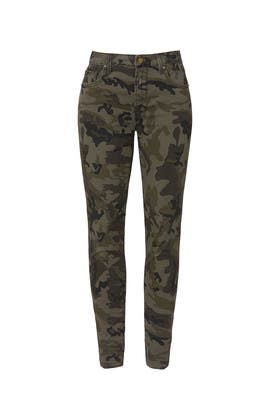 Camo Printed Skinny Jeans by Louna