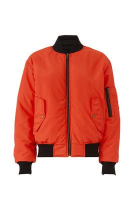 Orange Bomber Jacket by Nicole Miller