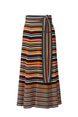 Multi Striped Wrap Skirt by 3.1 Phillip Lim
