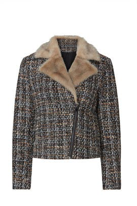 Faux Fur Motor Jacket by Thakoon Collective