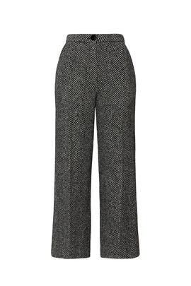 Houndstooth Wide Leg Trousers by Alexa Chung