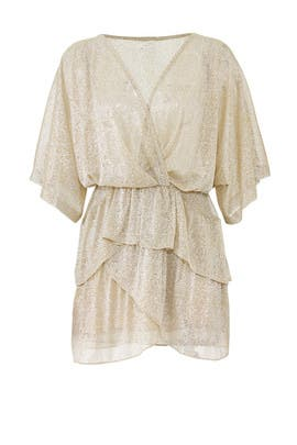 Sheer Gold Wide Dress by Iro