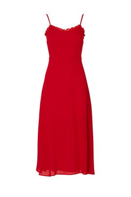 Cherry Red Cassandra Dress by Reformation